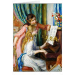 Girls at the Piano Pierre Auguste Renoir painting Note Card