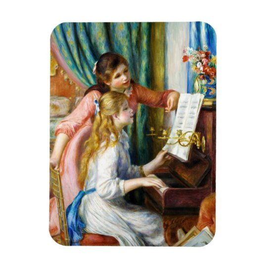 Girls at the Piano Pierre Auguste Renoir painting