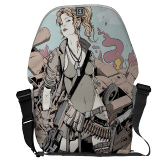 Girls at to war courier bag
