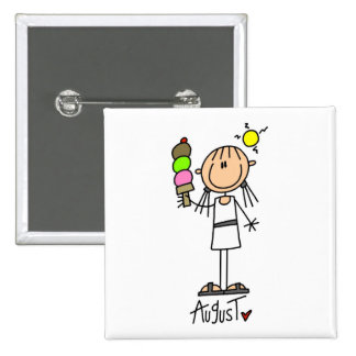 Girl's August Birthday 15 Cm Square Badge