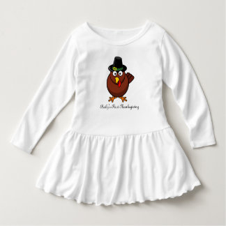 Girls' Baby's First Thanksgiving outfit Dress