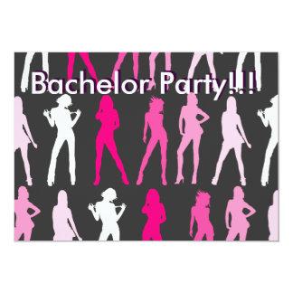 GIRLS, Bachelor Party!!!, Bachelor Party!!! 13 Cm X 18 Cm Invitation Card