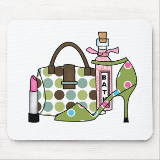 Girls Bags and Shoes One Mouse Pad