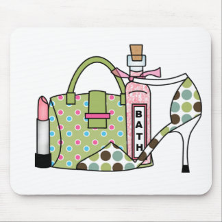 Girls Bags and Shoes Two Mouse Mat