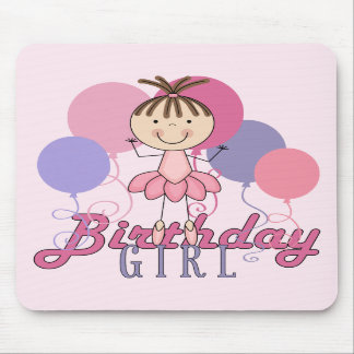 Girls Ballerina Birthday Mouse Pads