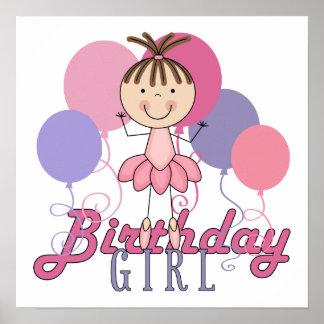 Girls Ballerina Birthday Poster