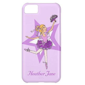 Girls ballerina blonde hair purple iphone5 case iPhone 5C case