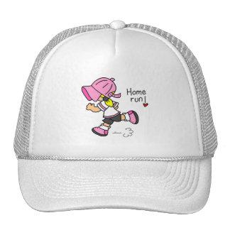 Girls Baseball Home Run Tshirts and Gifts Cap