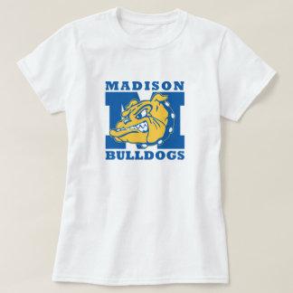 Girls Basic White Bulldogs T-shirt
