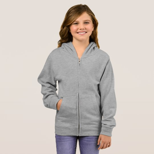 Basic Zip Hoodie, Grey Heather