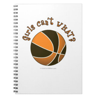 Girls Basketball - Black/Orange Notebook