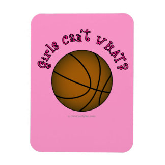Girls Basketball - Brown/Pink Rectangle Magnets