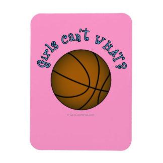 Girls Basketball - Brown/Sky Blue Vinyl Magnet