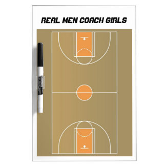 Girls' Basketball Coach Dry Erase Board