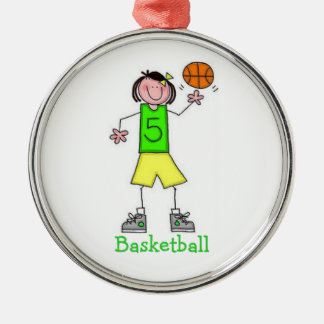Girls Basketball Ornament