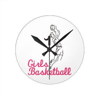 Girls Basketball Round Clock