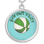 Girls Basketball - White/Green Jewelry