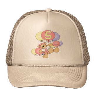 Girls Bear 5th Birthday Gifts Cap