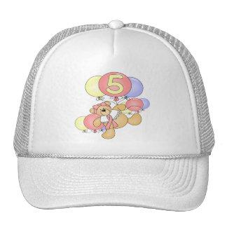 Girls Bear 5th Birthday Gifts Hat