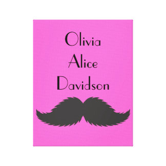 Girls Bedroom Canvas Mustache Moustache Print Gift Canvas Prints