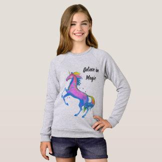 Girl's Believe in Magic Unicorn Sweatshirt