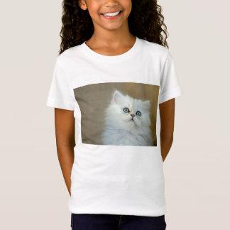 Girls' Bella Jersey Kitten T-Shirt, White T-Shirt
