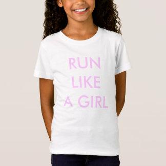 "Girls' Bella Jersey Tee ""Run Like A Girl"""