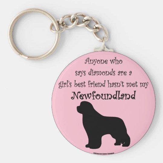 Girls Best Friend Basic Round Button Key Ring