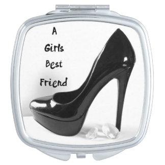 Girls best friend shoe travel mirror