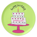 Girl's Birthday Cake Plate