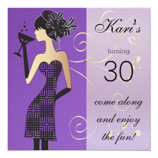 Girls Birthday or Bachelorette Bash 13 Cm X 13 Cm Square Invitation Card