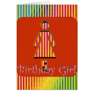 Girls Birthday Party Invitations Greeting Card