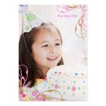 Girls Birthday Photo Cards Pack Of Chubby Business Cards
