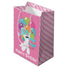 girls Birthday unicorn medium gift bag