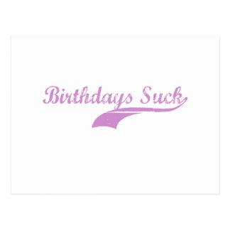 Girls Birthdays Suck Design Post Card
