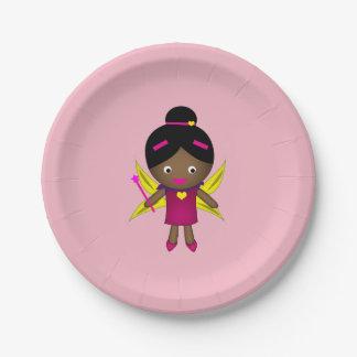 Girl's Black Fairy Paper Plates