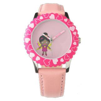 Girl's Black Fairy Watch