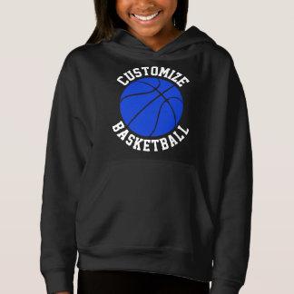 Girls Blue Basketball Customizable Sweatshirt