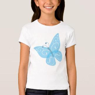 Girl's Blue Butterfly Shirt