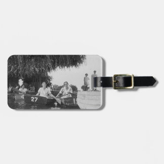 Girls & Boats Vintage Image Acrylic Luggage Tag