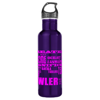Girls Bowlers : Pink Greatest Bowler 710 Ml Water Bottle