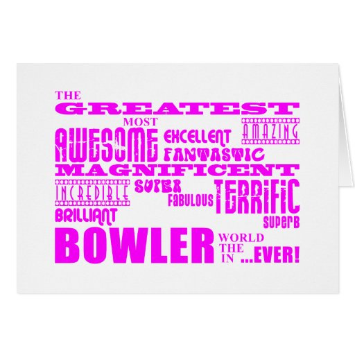 Girls Bowlers : Pink Greatest Bowler Cards