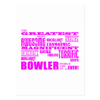 Girls Bowlers Pink Greatest Bowler Post Card