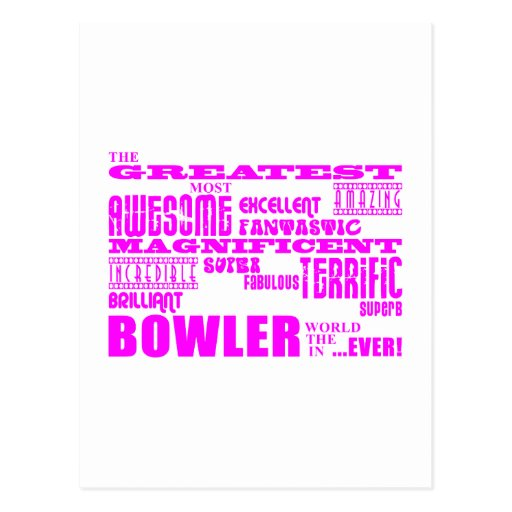 Girls Bowlers : Pink Greatest Bowler Post Card