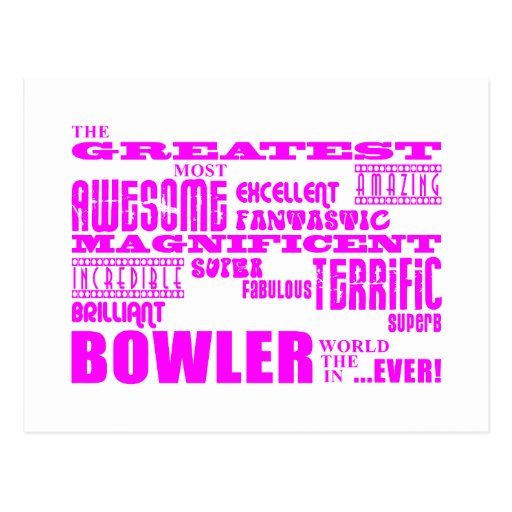 Girls Bowlers : Pink Greatest Bowler Postcards