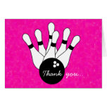 Girls Bowling Thank You Note Card
