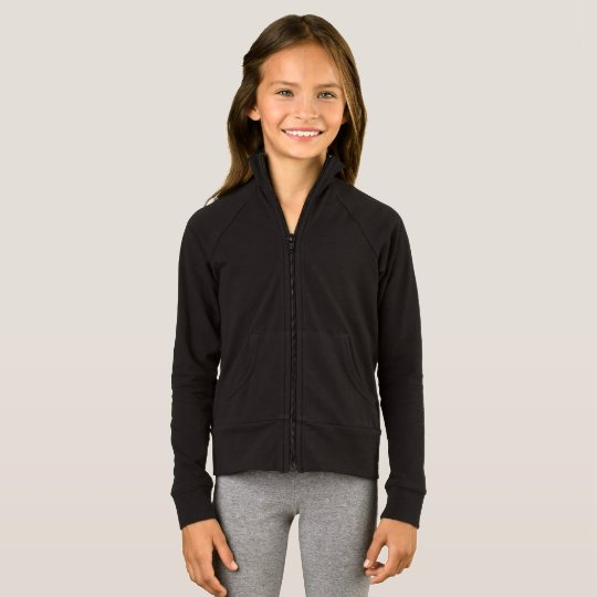 Girls' Boxercraft Sports Jacket, Black