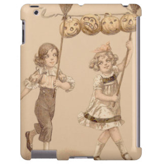 Girls Broom Jack O' Lantern Pumpkin iPad Case