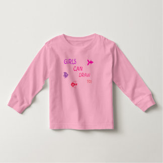 Girls Can Draw To! T- Shirt