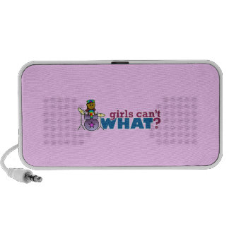 Girls Can t WHAT Girl on Drums Travel Speaker